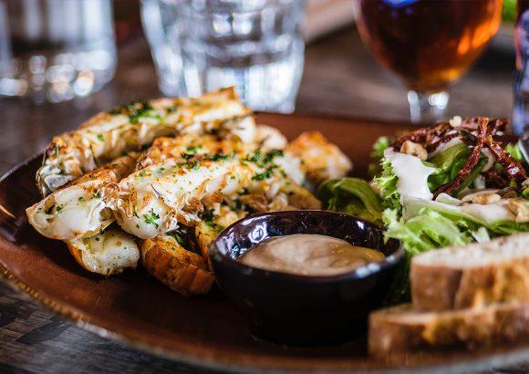 Crispy Duck Salad in Danish Style