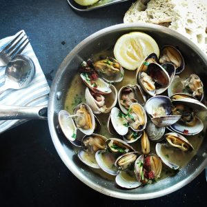 Delicious Soup with Oysters